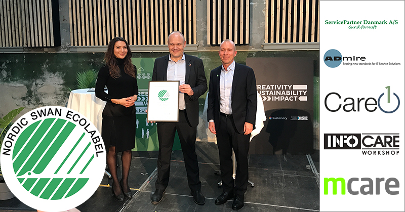 First company to receive the Nordic Swan Ecolabel in new category